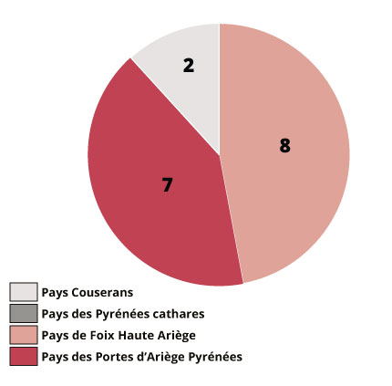 Répartition du parc de logements en intermédiation locative - SOliHA Ariège